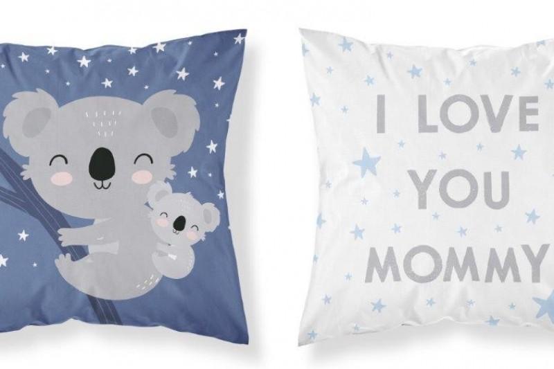 Poszewka bawełniana dziecięca, Niebieski-Koala