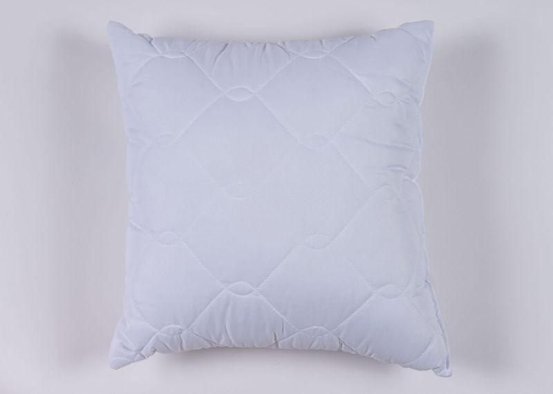 biała poduszka z mikrofibry kwadratowa