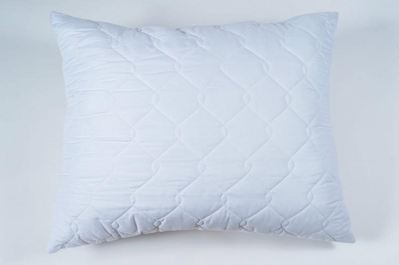 biała poduszka z mikrofibry prostokątna