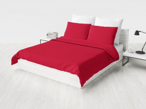 Pościel satynowa jednobarwna czerwona
