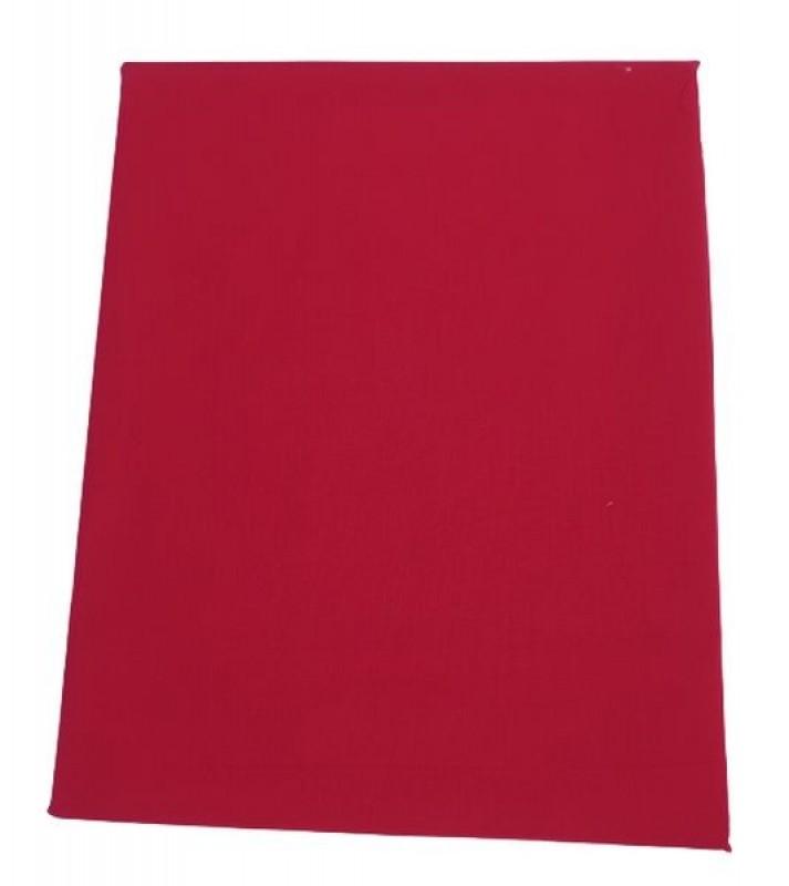 Prześcieradło bawełniane czerwone