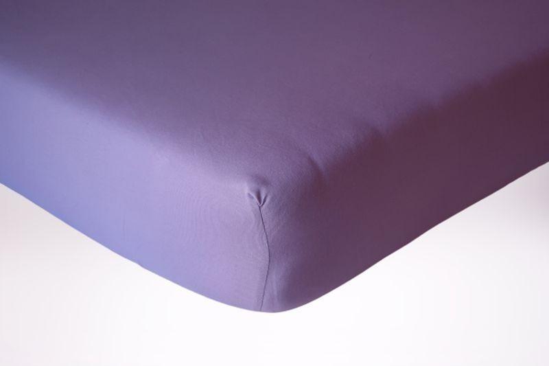 Prześcieradło jersey z gumką 120x60 kolor fioletowy