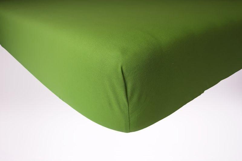 Prześcieradło jersey z gumką 160x200 kolor zielony
