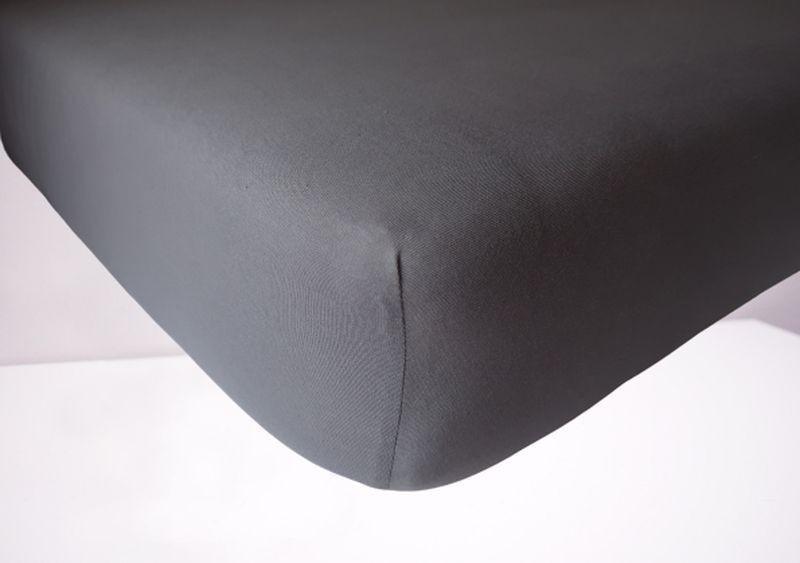 Prześcieradło jersey z gumką 180x200 kolor ciemno szary