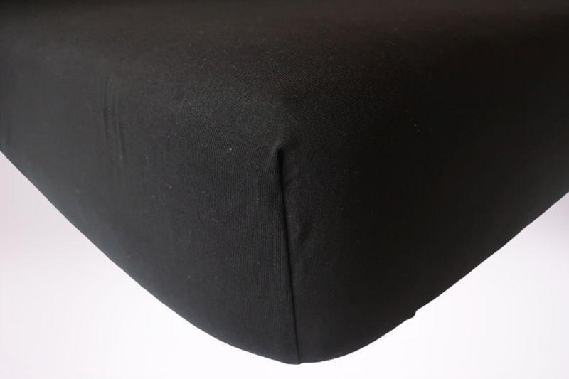 Prześcieradło jersey z gumką 200x200 kolor czarny