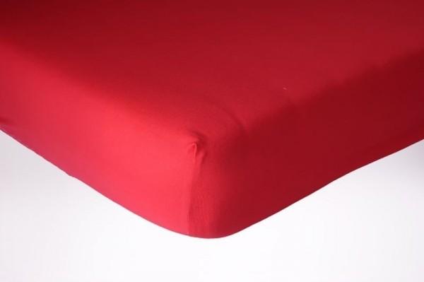 Prześcieradło jersey z gumką 200x200 kolor czerwony