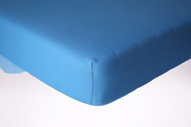 Prześcieradło jersey z gumką 220x240 kolor niebieski